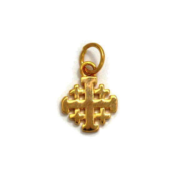 Yellow gold filled jerusalem cross pendant yardenit yellow gold filled jerusalem cross pendant aloadofball Images