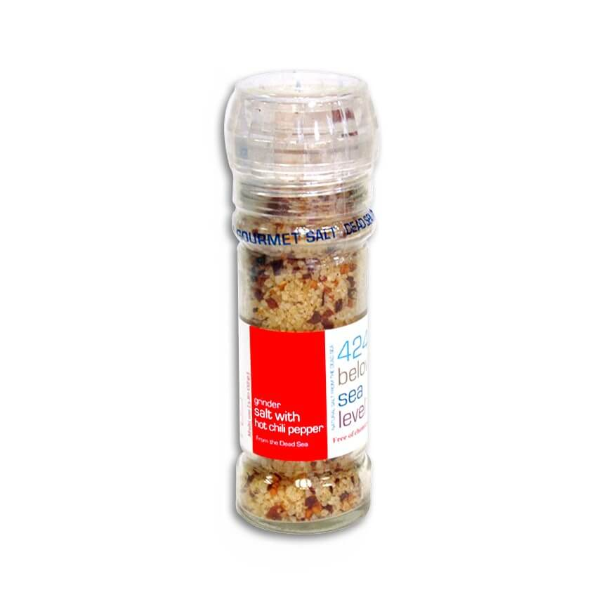 Dead Sea Gourmet Salt with Hot Chili Peppr