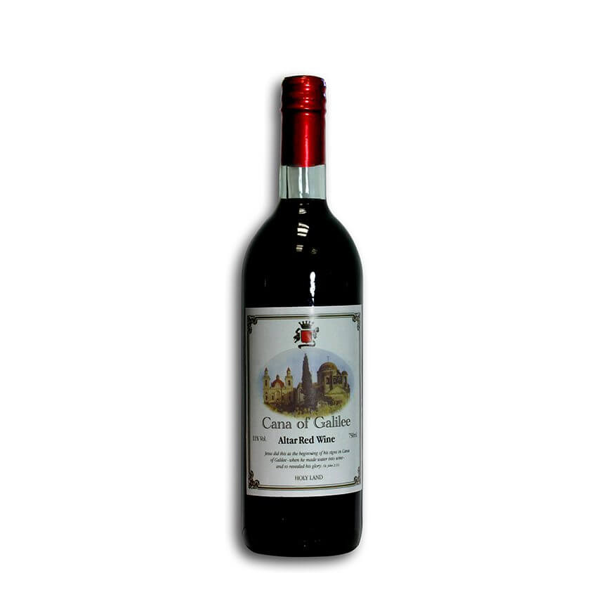 cana of galilee altar red wine 750 ml