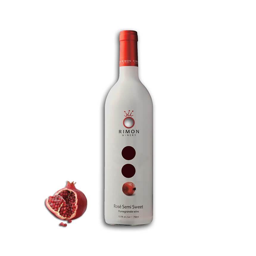 Rose Semi-Sweet Pomegranate Wine