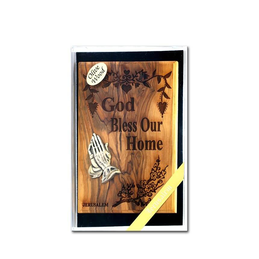 Olive wood Home Blessing Decoration