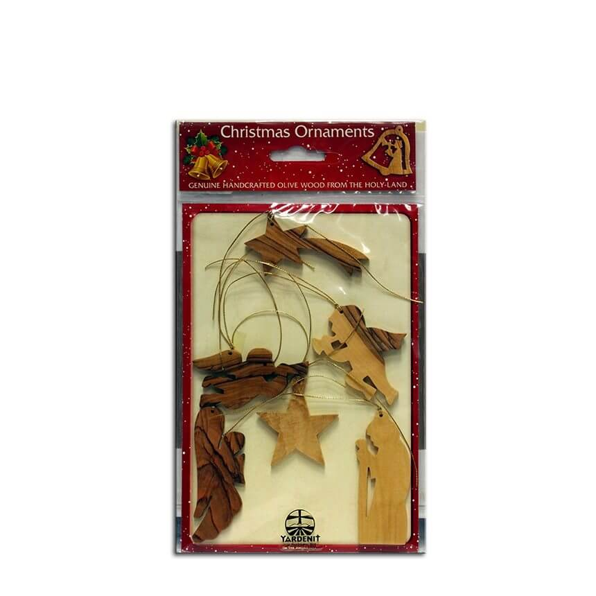 Olive Wood Christmas Tree Ornaments