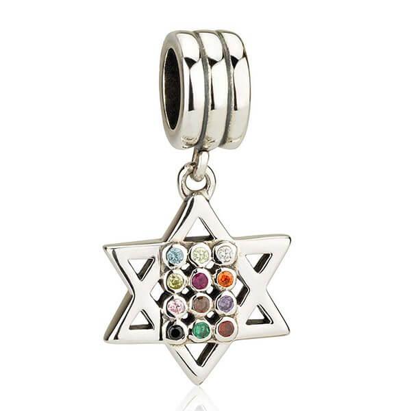 Hoshen Star of David hanging Charm