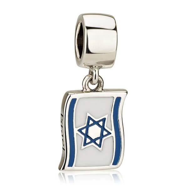 Flag of Israel Silver Charm