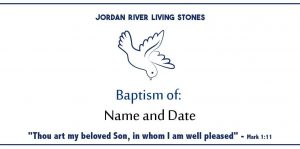 8. Baptism of: