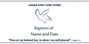 8. Baptism of: