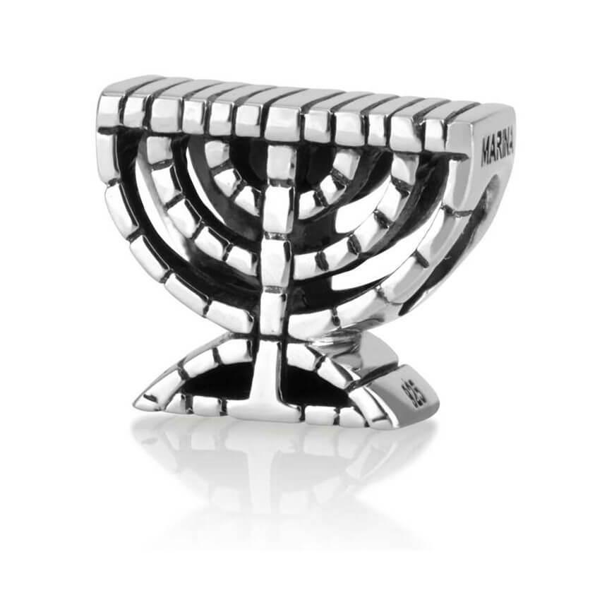 menorah silver charm