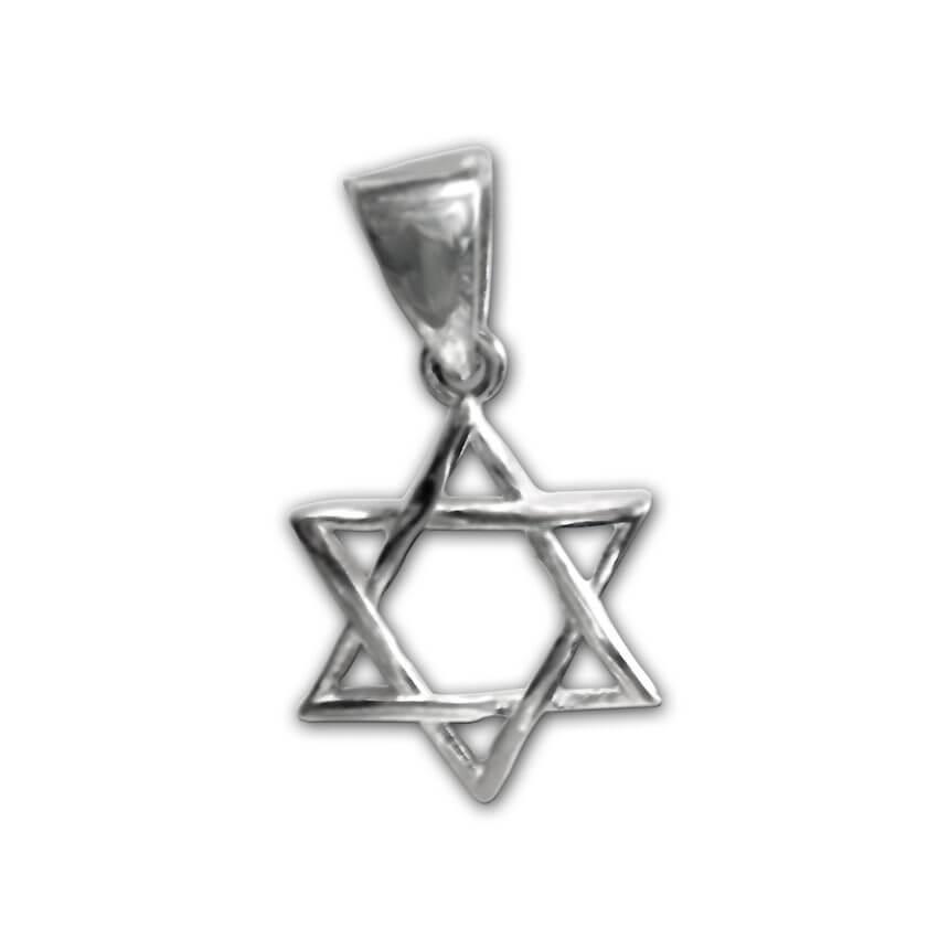 silver braided daviv star