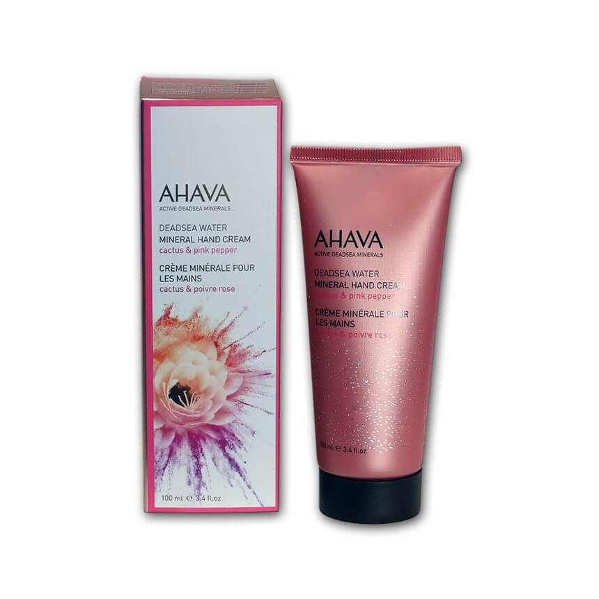 ahava mineral hand cream cactus and pink pepper