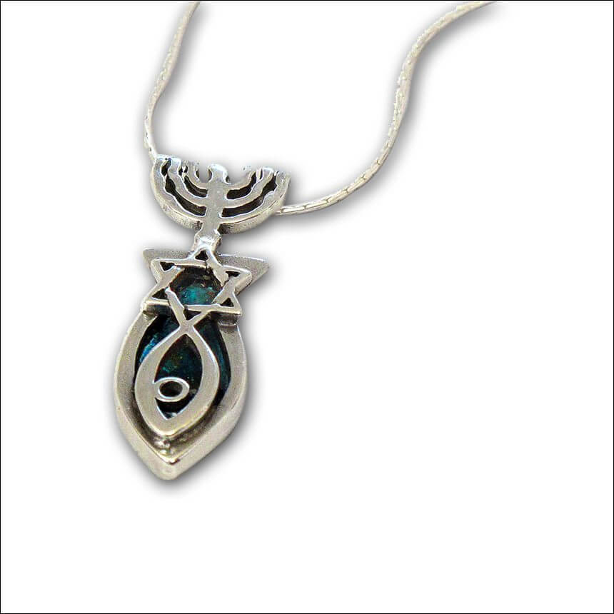 Roman Glass Grafted In Necklace