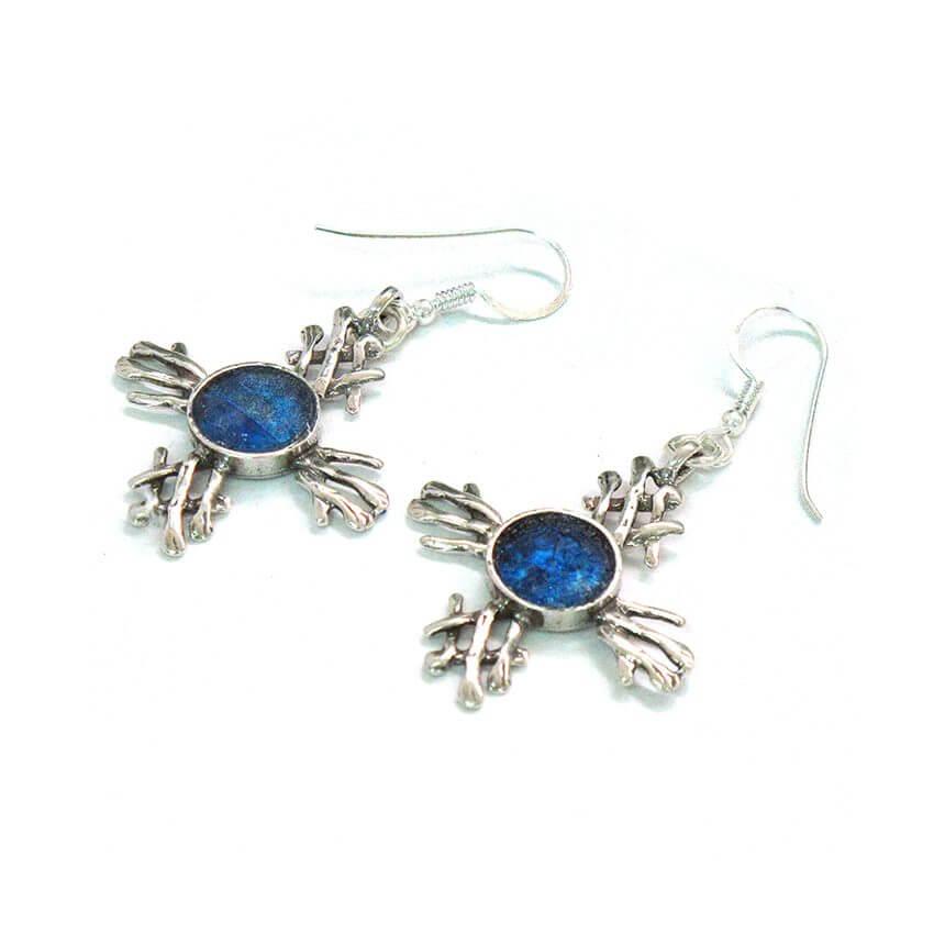 Roman Glass Tabgha Cross Earrings, Michal Kirat Design