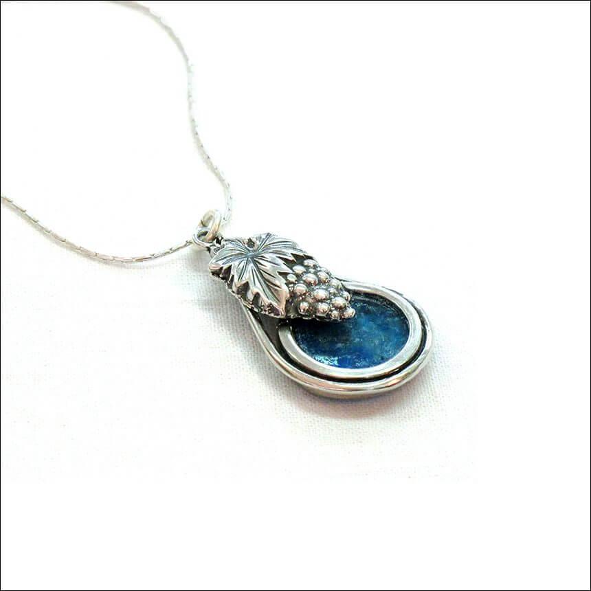 Grapes Roman Glass Necklace, Michal Kirat Design
