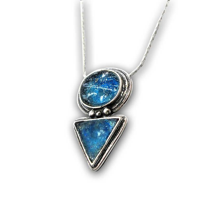 Roman Glass Journey Design Necklace, Michal Kirat Design