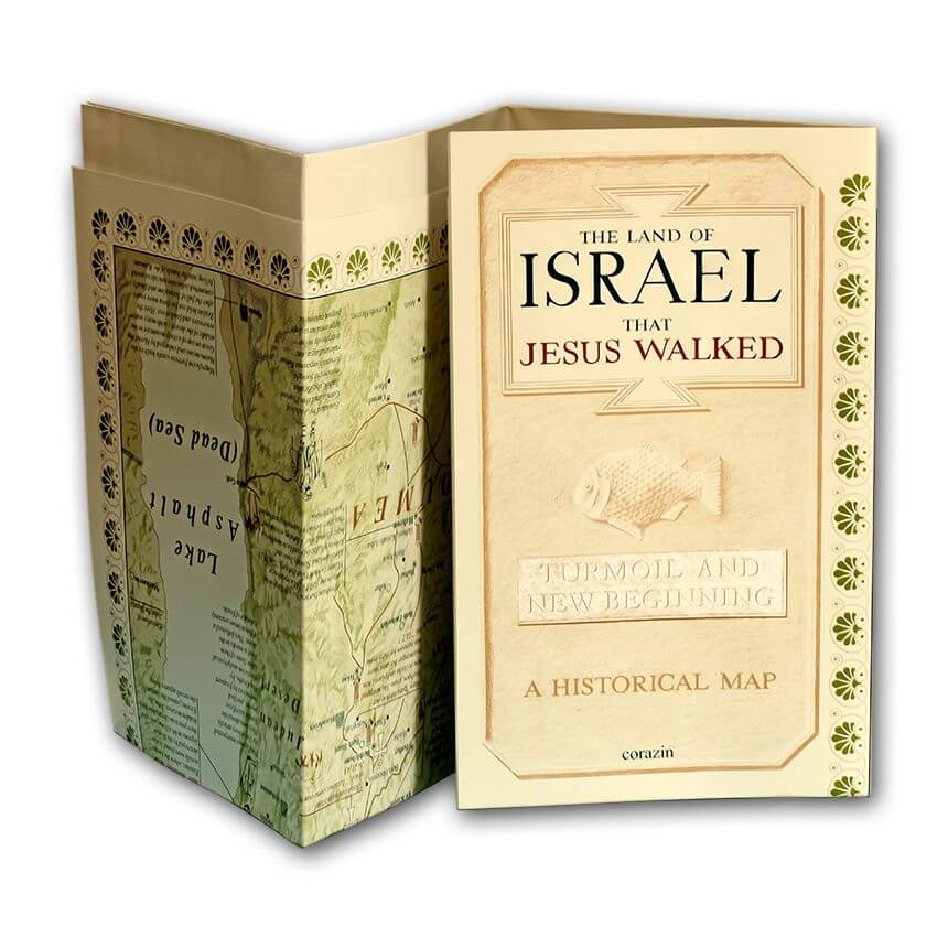 map the land of israel that jesus walked