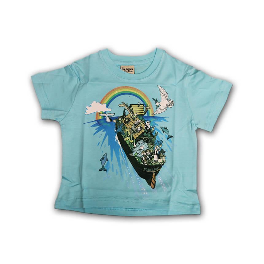 Noah's Ark Tshirts for Kids Light Blue