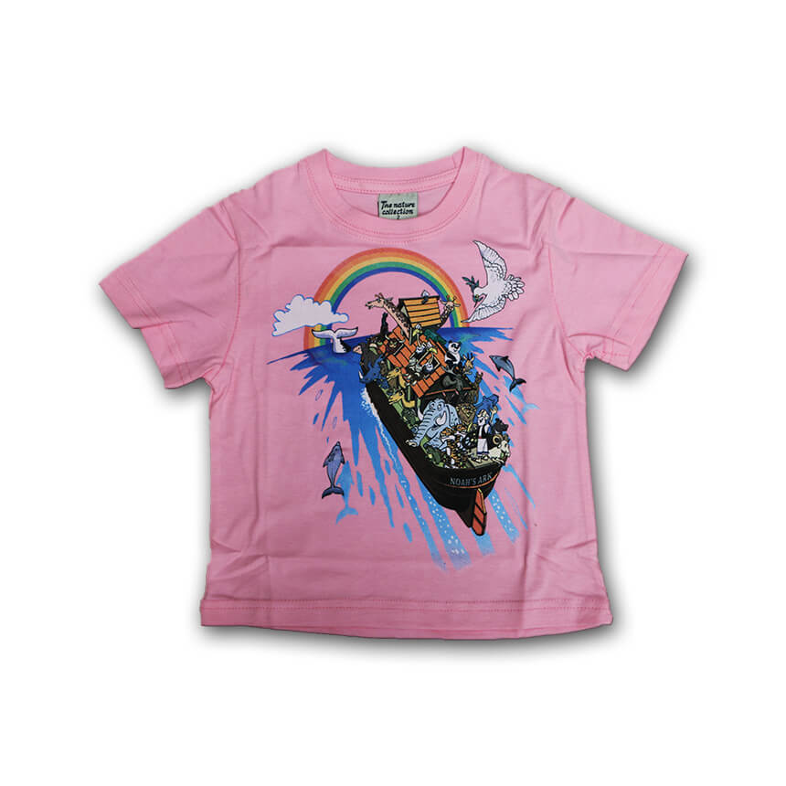 Noah's Ark T-shirts for Kids Pink