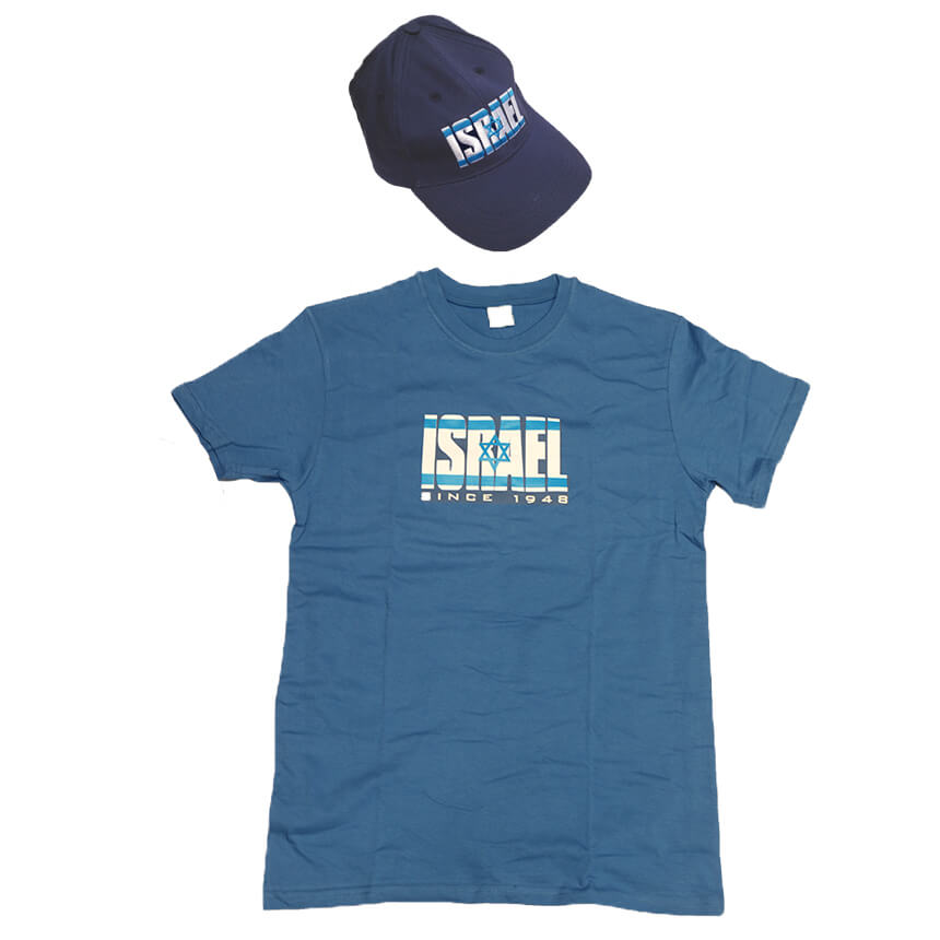 israel 1948 hat and t-shirt set