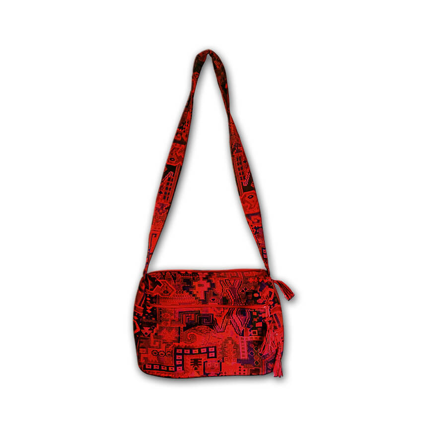 red medium size tote