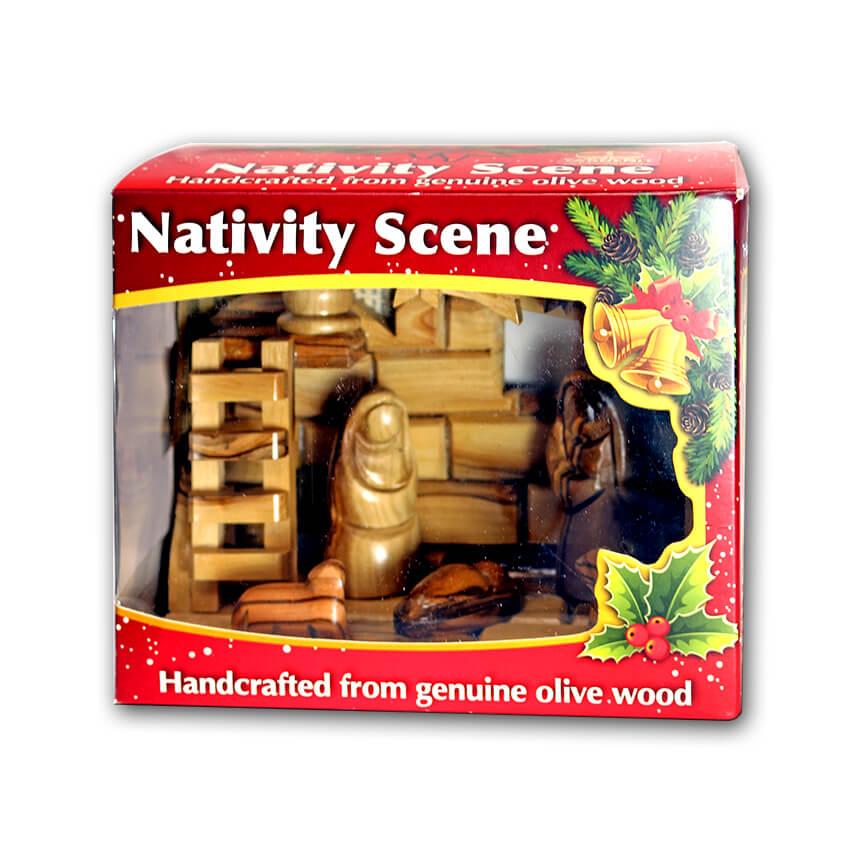 Nativity olive wood set 1