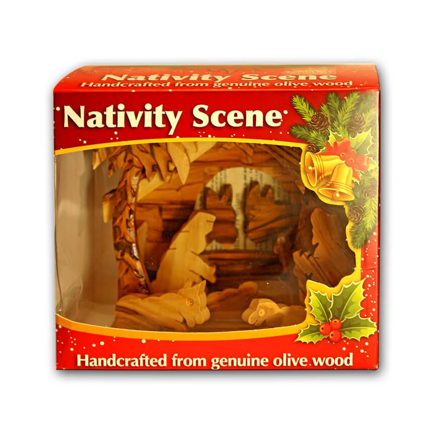Nativity olive wood set 2