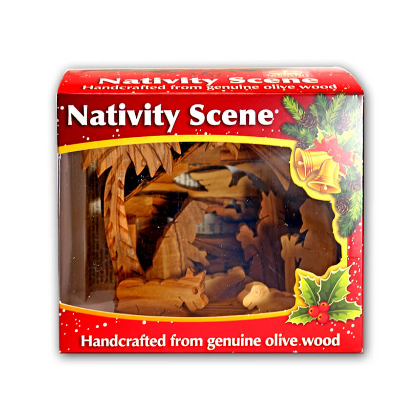 Nativity olive wood set 4