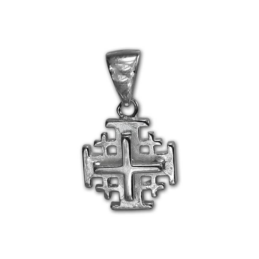 embossed silver cross